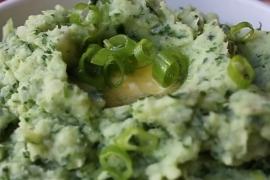 Салат из отварного картофеля