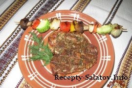 Стейк куриный на гриле с перцем и овощами - пошаговый рецепт