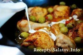 Тушеная курица с оливками - пошаговый рецепт
