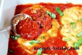 Курица  с сыром в томатном соусе - пошаговый рецепт