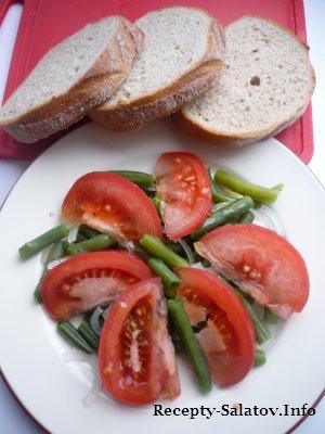 Салат с фасолью и томатом рецепт с фото