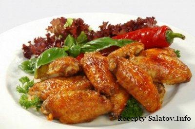 Куриные крылышки с медом и чесноком - пошаговый рецепт