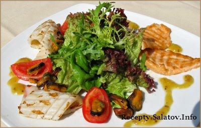 Салат из морепродуктов / Seafood Salad