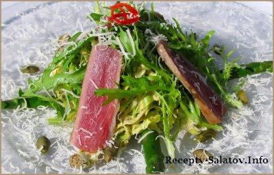 Салат с красным тунцом рецепт