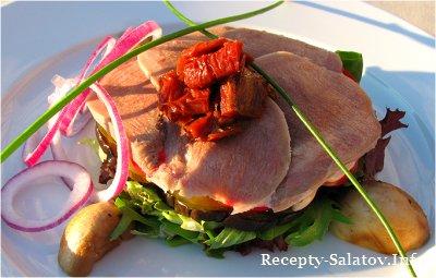 Как приготовить салат с языком телятина  рецепт
