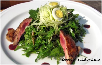 Салат с перепелкой / Quail Salad