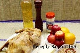 Утка с яблоками - пошаговый рецепт
