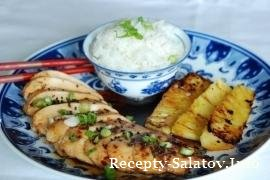 Курица с ананасом на гриле - пошаговый рецепт