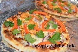 Пицца с курицой по тайски - пошаговый рецепт