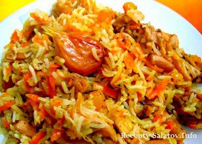 Курица с рисом в духовке - пошаговый рецепт