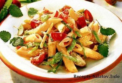 Итальянский картофельный салат с  кедровыми орешками, базилик, лимонный сок