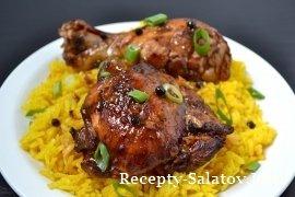 Курица Адобо острое и очень нежное мясо
