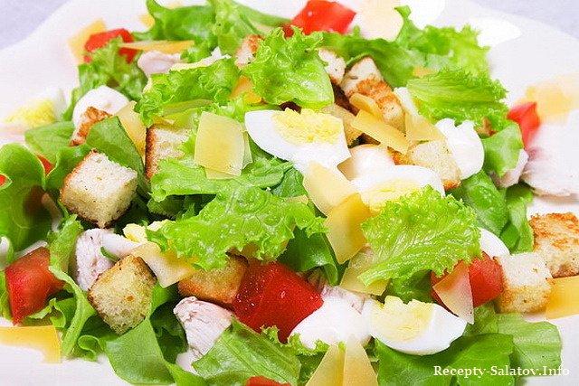 Салат «Цезарь с курицей и креветками»: рецепт №4