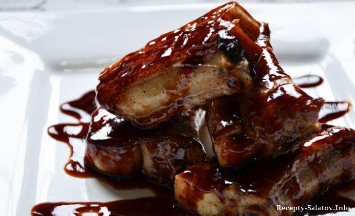 рецепт американски ребрышки барбекю Свиные по