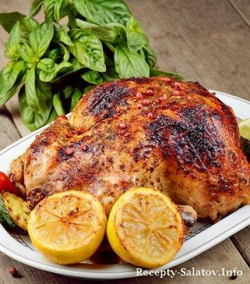 Топ три рецепта курицы запекаем целиком или в рукаве с миндалем