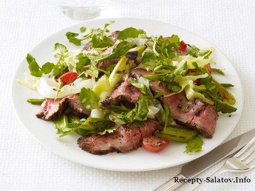 Образец подачи блюда - Салат со стейком блейд