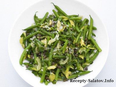 Итальянский салат из зеленой фасоли и сельдерея