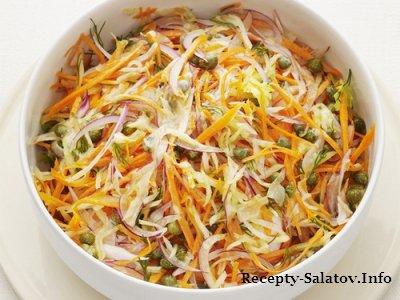 Пикантный морковный салат с каперсами