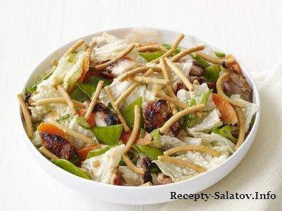 Вкусный сочный куриный салат по-китайски