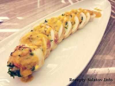 Готовим фаршированные кальмары-рецепт ресторана