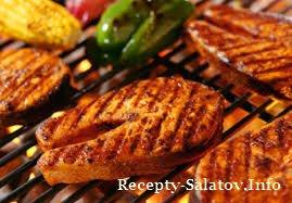 Запеченное филе красной рыбы с соусом барбекю