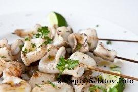 Жареное филе кальмара на гриле рецепт с фото