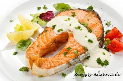Филе лосося со сливочным соусом -рецепт ресторана