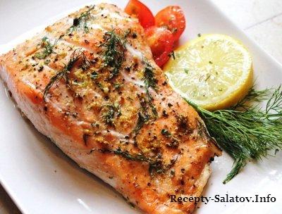 Запеченное филе лосося в фольге  рецепт ресторана