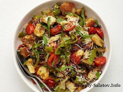Зимний салат запеченный с помидорами и перцем
