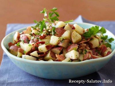 Вкусный Немецкий картофельный салата Бобби Флай