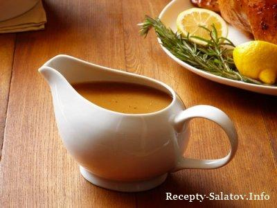 Рецепт классического соуса для индейки