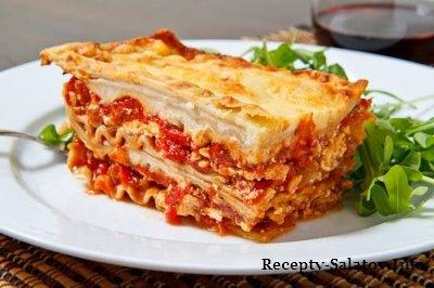 Итальянская лазанья с говядиной и сыром