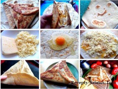 Ёка  закуска по армянски из лаваша и яйца