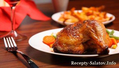 Куриные бедрышки в ароматном чесночном соусе