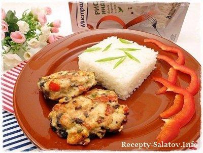 Сочные куриные котлеты с рисом Идики