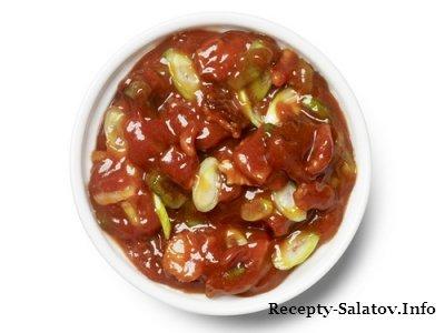 Кетчуп с беконом и зеленым луком