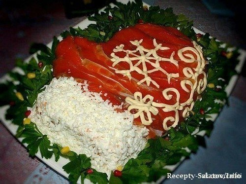 Салат «Новогодний шар»