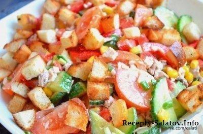 Свежий сочный салат Эдельвейс