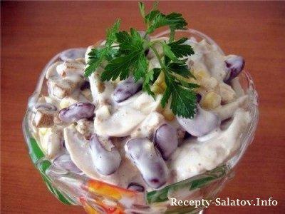 Вкусный салат Минутка