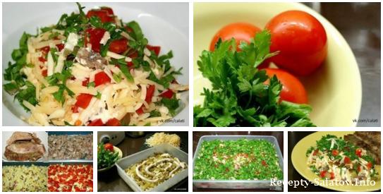 рецепт салат из говядины огурца и помидоры