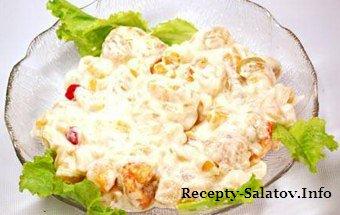 Салат сибирский из куриного филе