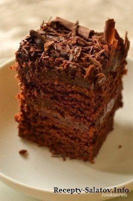 Сочный нежный шоколадный пирог (без яиц)