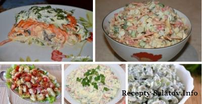ТОП - 5 популярных салатов из курицы