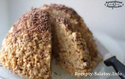 Десерт муравейник из печенья
