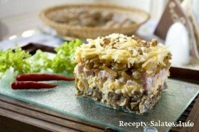 Салат «Боярский» из буженины и варёные яйца