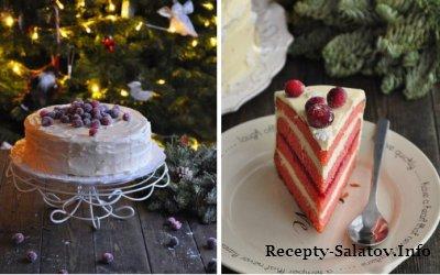 Клюквенный торт с белым шоколадом