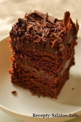 Супер-влажный шоколадный пирог без яиц