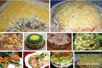 Топ 10 лучших салатов с грибами