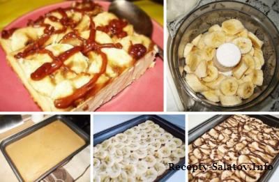 Творожно–банановый десерт