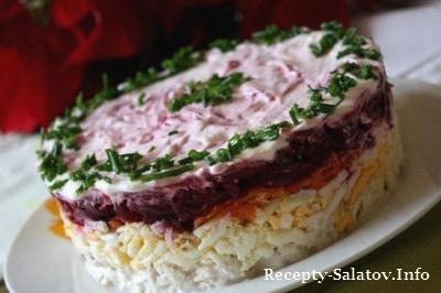 Слоеный салат из мяса мой генерал